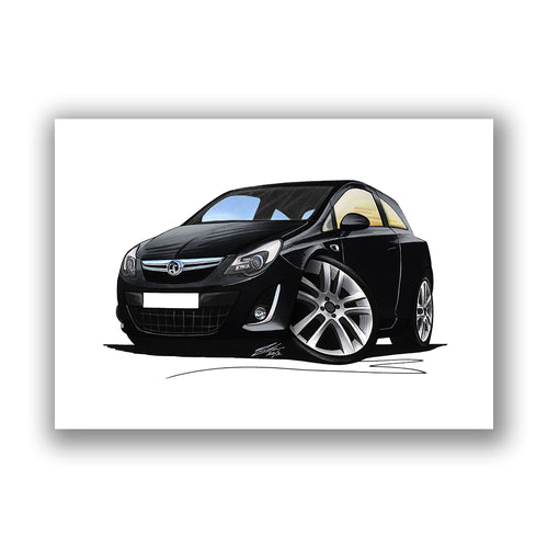 Vauxhall Corsa D (Facelift) - Caricature Car Art Print