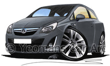 Load image into Gallery viewer, Vauxhall Corsa D (Facelift) - Caricature Car Art Print
