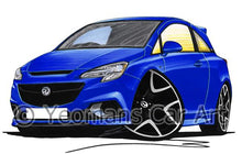 Load image into Gallery viewer, Vauxhall Corsa E VXR - Caricature Car Art Coffee Mug