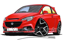 Load image into Gallery viewer, Vauxhall Corsa E VXR - Caricature Car Art Print