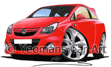 Load image into Gallery viewer, Vauxhall Corsa D (Facelift) VXR - Caricature Car Art Print