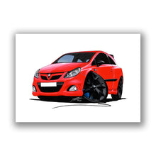 Load image into Gallery viewer, Vauxhall Corsa D VXRacing Edition - Caricature Car Art Print