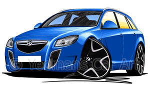 Vauxhall Insignia VXR Estate - Caricature Car Art Coffee Mug