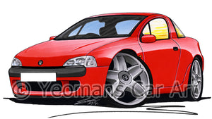 Vauxhall Tigra - Caricature Car Art Print