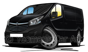 Vauxhall Vivaro B (2014- ) (Grey Bumpers) - Caricature Car Art Coffee Mug