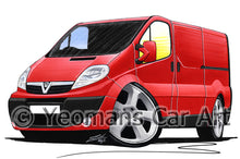 Load image into Gallery viewer, Vauxhall Vivaro A (2001-2014) - Caricature Car Art Print
