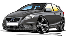 Load image into Gallery viewer, Volvo V40 R-Design - Caricature Car Art Print