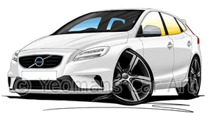 Volvo V40 R-Design - Caricature Car Art Print