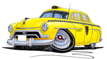 Load image into Gallery viewer, Yellow Cab - Caricature Car Art Print