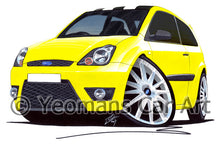 Load image into Gallery viewer, Ford Fiesta (Mk6)(Facelift) Zetec S 30th Anniversary Edition - Caricature Car Art Print
