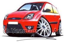 Load image into Gallery viewer, Ford Fiesta (Mk6)(Facelift) Zetec S - Caricature Car Art Print