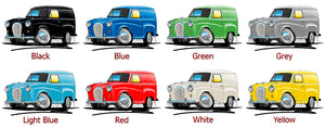 Austin A35 Van - Caricature Car Art Print