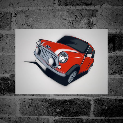Mini Cooper (red) - Stencil Artwork