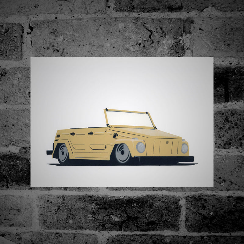 Volkswagen Type 181 'The Thing' (beige) - Stencil Artwork