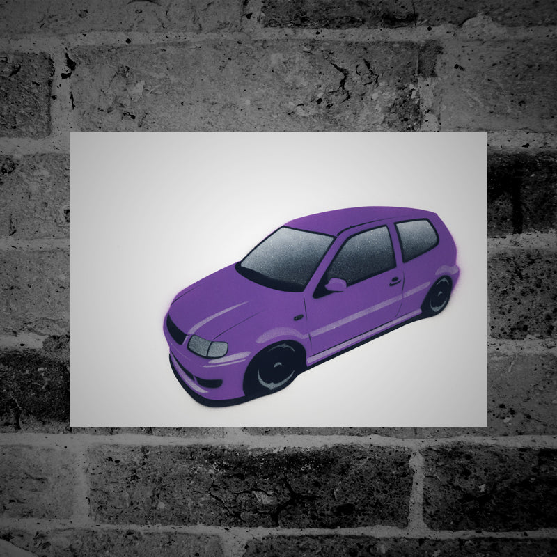 Volkswagen Polo (Mk3)(6N) (purple) - Stencil Artwork