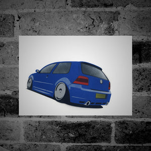 Volkswagen Golf (Mk4) R32 (blue) - Stencil Artwork