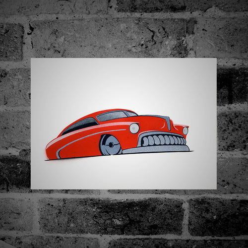 Hot Rod (red) - Stencil Artwork