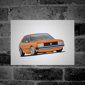Volkswagen Scirocco (Mk1) (orange) - Stencil Artwork