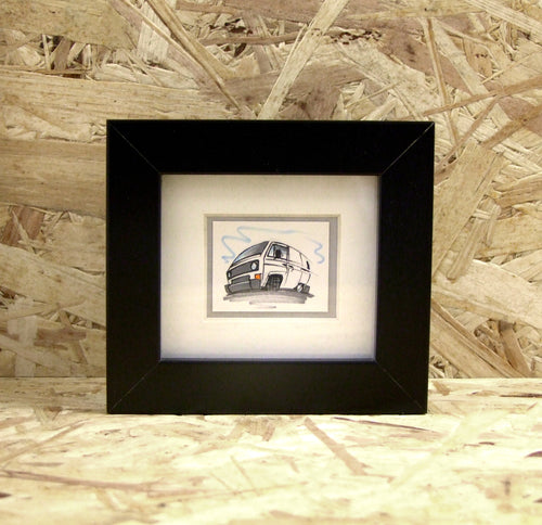 T3 Van (014) - Miniature Framed Sketch