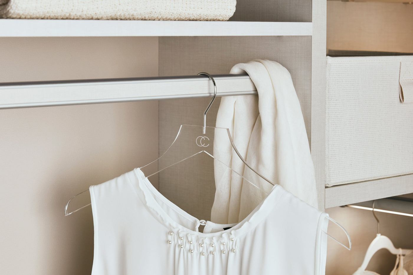 Acrylic Hangers Collection by California Closets Essentials