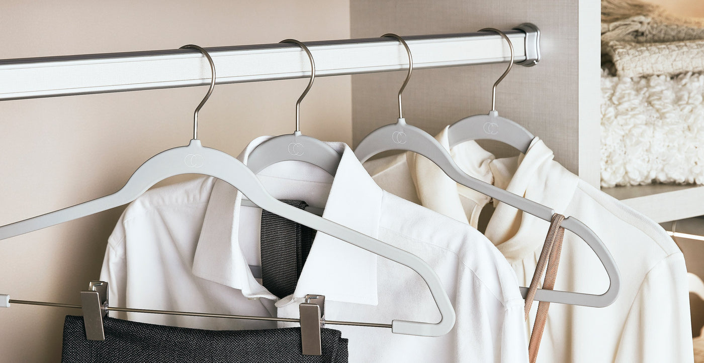 Grey Hangers Collection by California Closets Essentials
