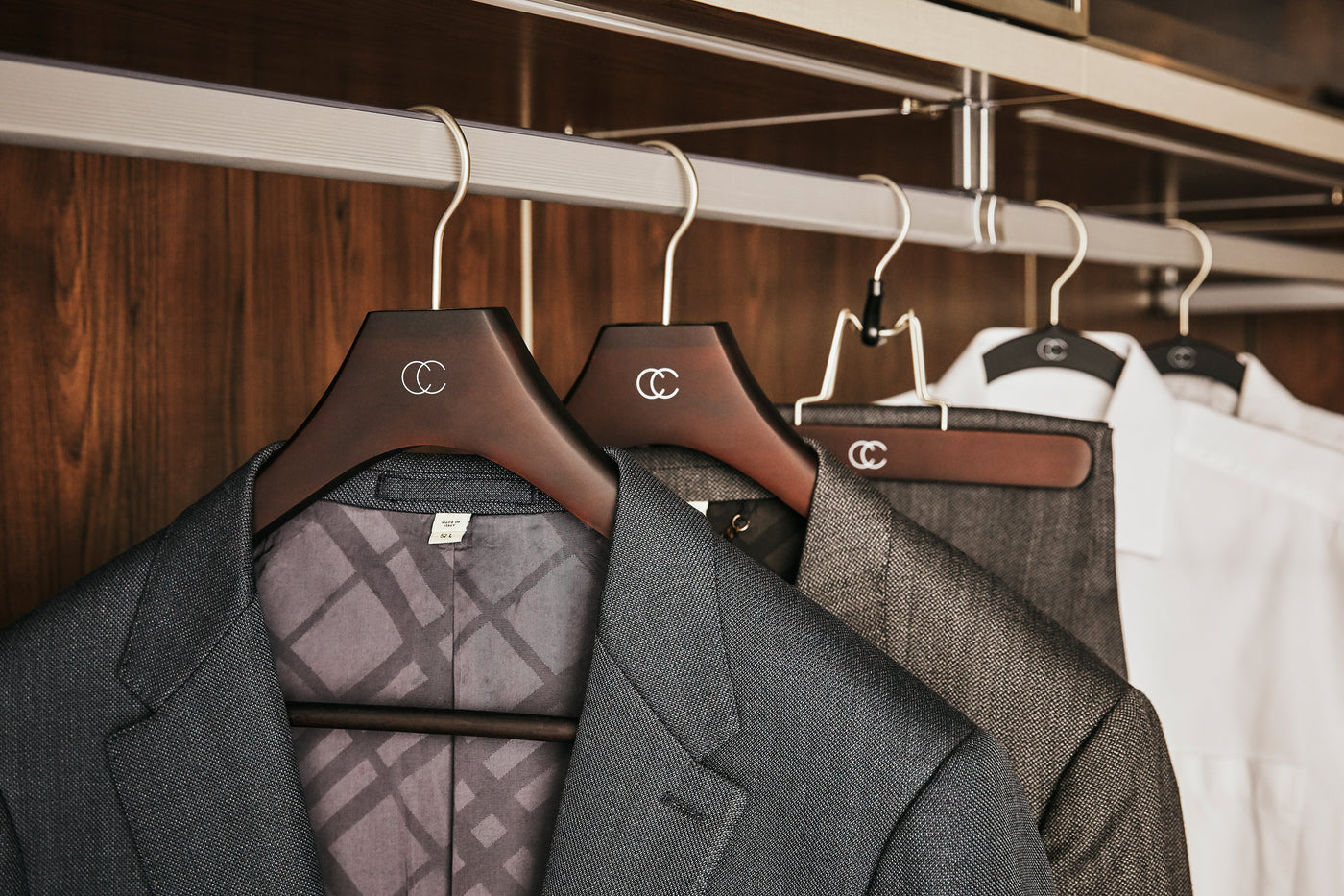 Woodgrain Hangers Collection by California Closets Essentials