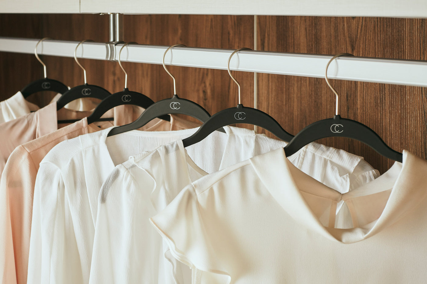 Black Hangers Collection by California Closets Essentials