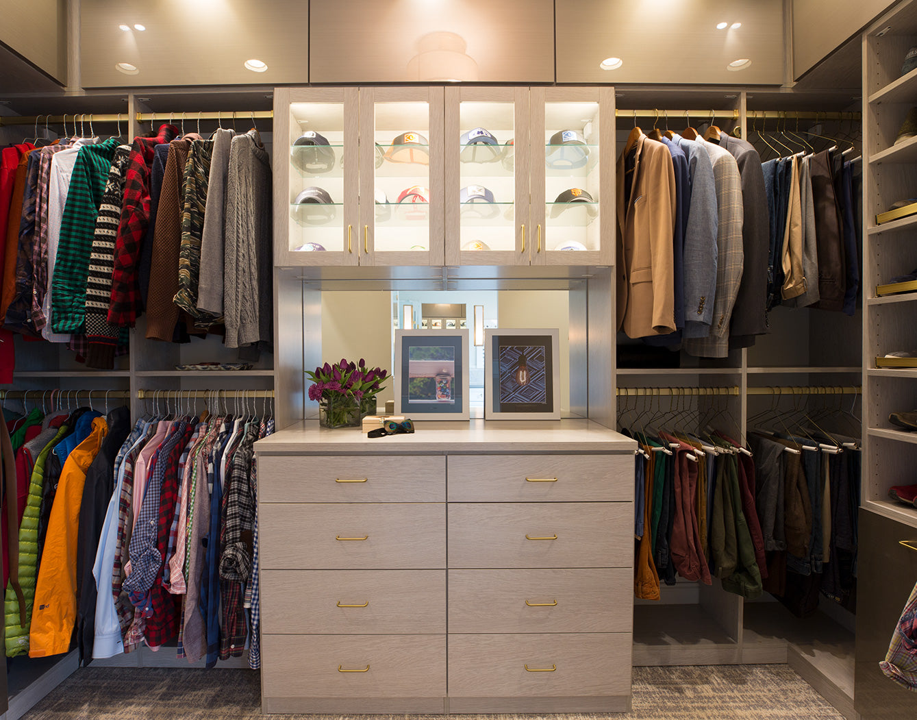 Walk in Custom Closet with Clothing