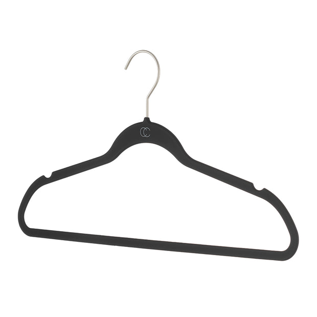 Space Saving Nonslip Suit Hanger in Black Finish by California Closets Essentials