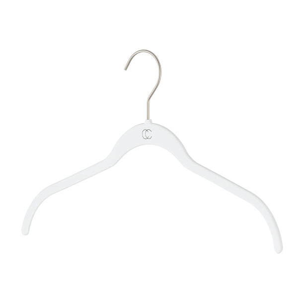 Space Saving Nonslip Shirt Hanger in White Finish by California Closets Essentials