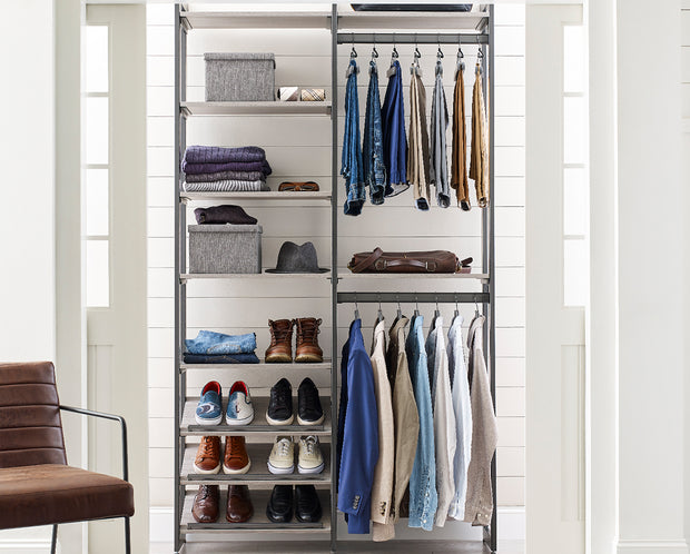 The Everyday System™ 4ft Double Hanging & Shoe Storage