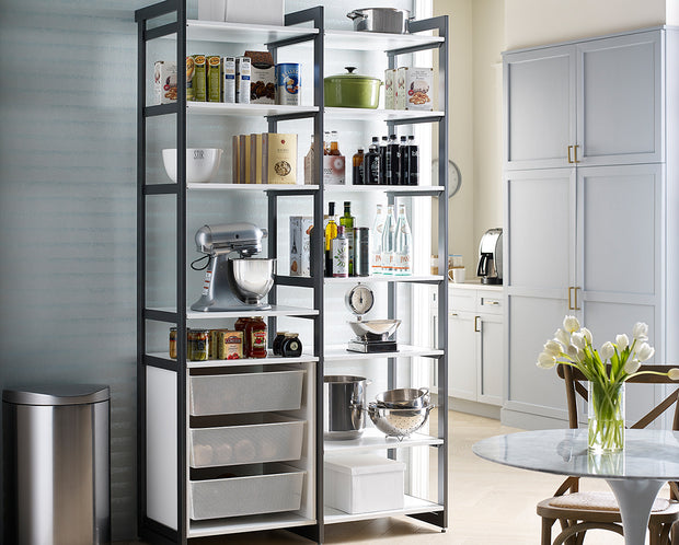 The Everyday System™ 4ft Pantry Storage & 3 Bin Cabinet
