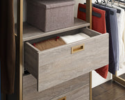The Everyday System™ Walk In 3 Drawer, Hanging & Storage