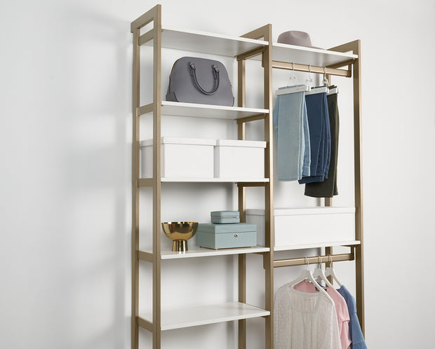 Example of Everyday Slack Hangers with Everyday System Closet | California Closets