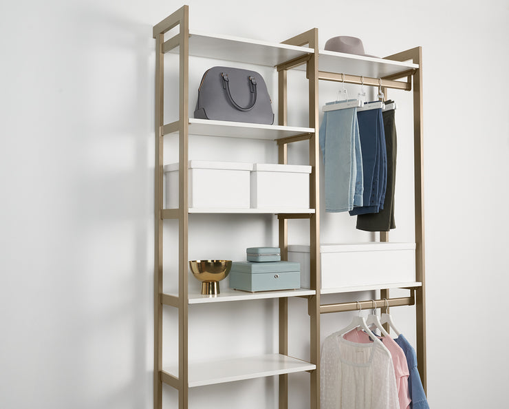 Example of Everyday Skirt Hangers with Everyday System Closet | California Closets