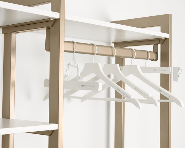 Example of Everyday Slack Hangers in White | California Closets