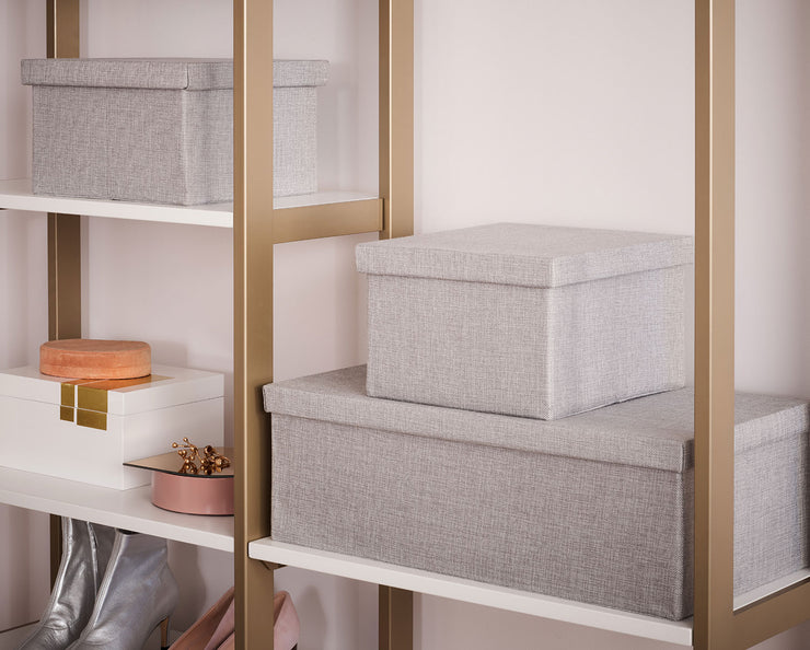 Example showing Everyday System with Everyday Bins in Light Grey | California Closets