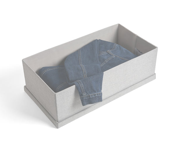 Example of Everyday Large Bins in Light Grey | California Closets