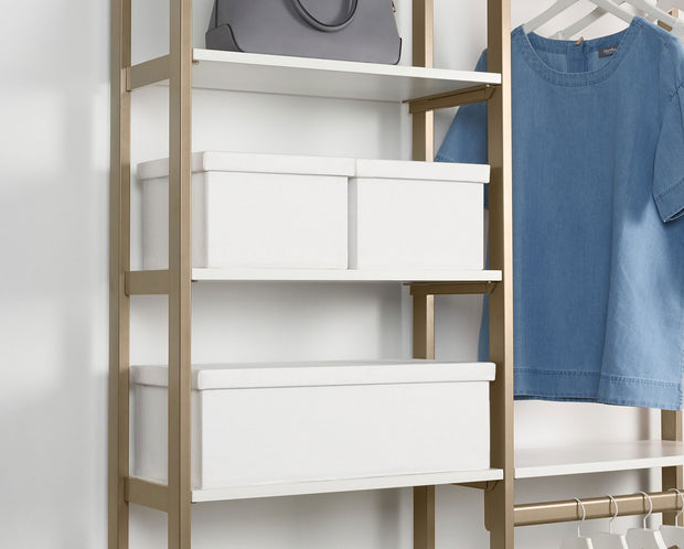 Example showing Everyday System with Everyday Bins in White | California Closets