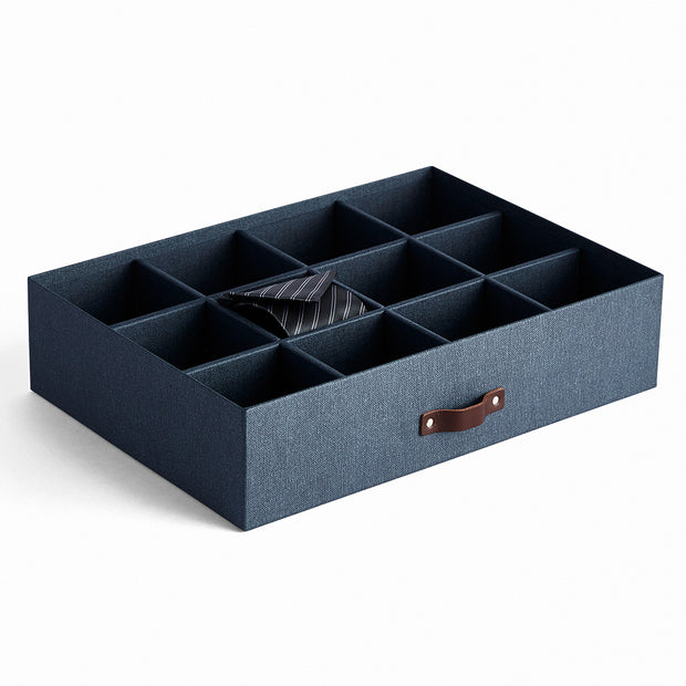 Bleecker Divided Organizer with Handle in Blue Night