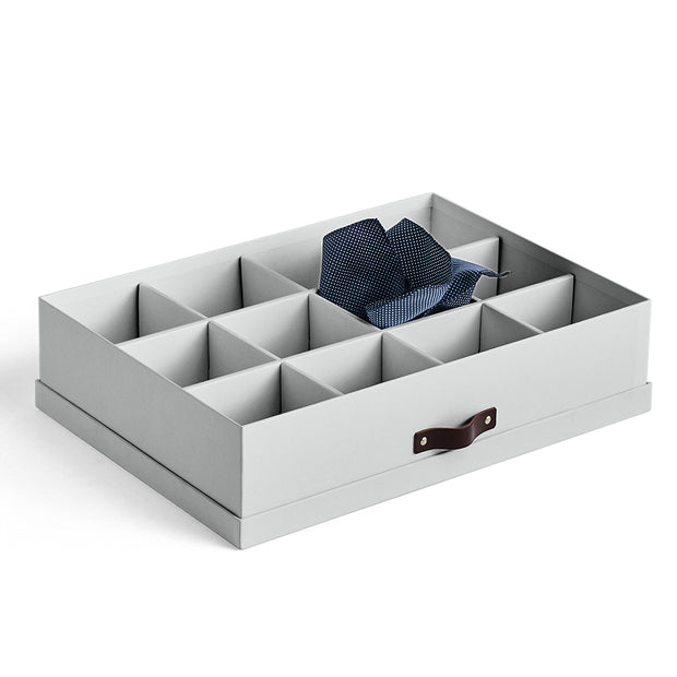 Bleecker Divided Organizer with Handle in Grey Mist