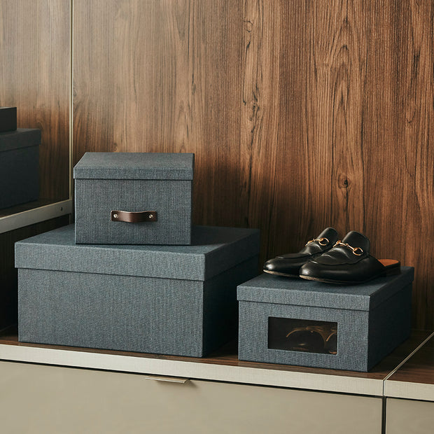Bleecker Storage Box with Handle in Closet System in Black Fog Finish