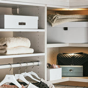 Park Jewelry Roll in White Finish in Closet System