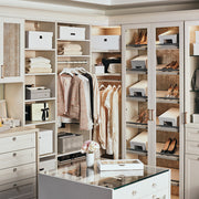 Bleecker Shoe Storage Box Set in White Finish in Closet System