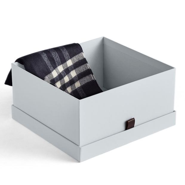 Small Bleecker Storage Box with Open Top in Grey Mist Finish