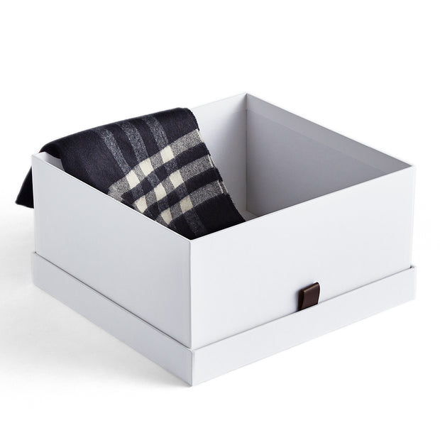 Small Bleecker Storage Box with Open Top in White Finish