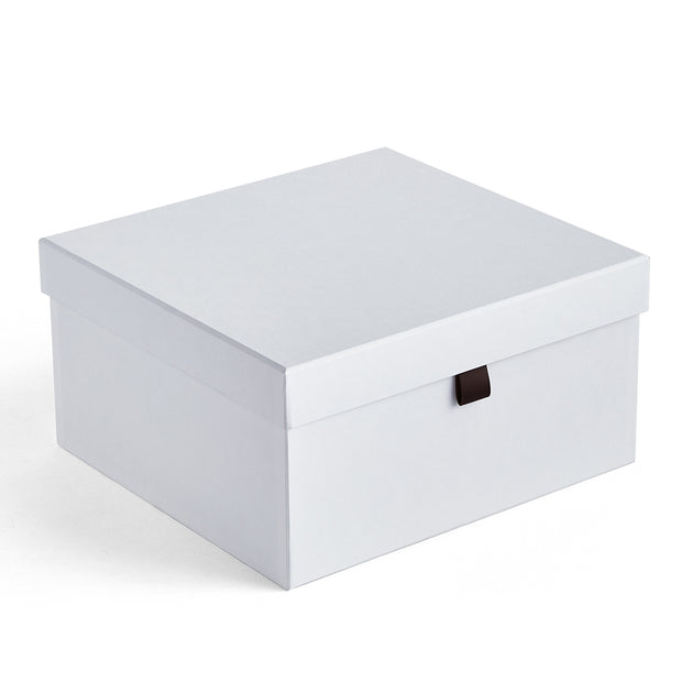 Small Bleecker Storage Box in White Finish