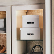 Bleecker Storage Box with Handle in Closet System in White Finish