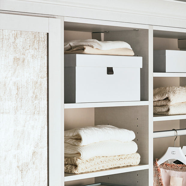 Bleecker Storage Box Set In Closet Space in White Finish