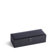 Bowery Valet Watch Box in Black Finish Closed Top